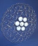 Golfballwandhalter aus Acrylglas